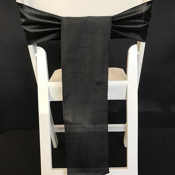 Chair Tie - Raw Silk - Black