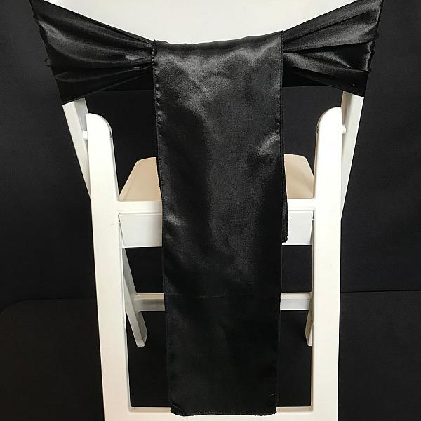 Chair Tie - Silk - Black
