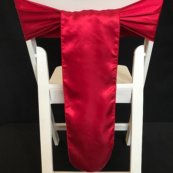 Chair Tie - Silk - Claret Red