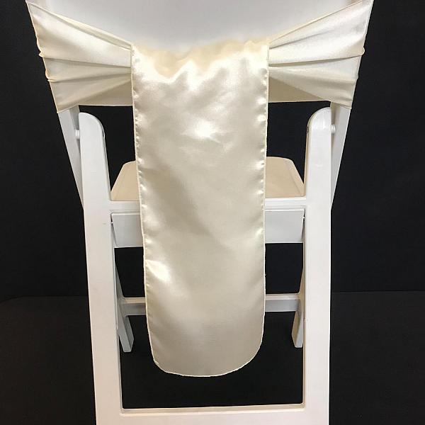 Chair Tie - Silk - Ivory
