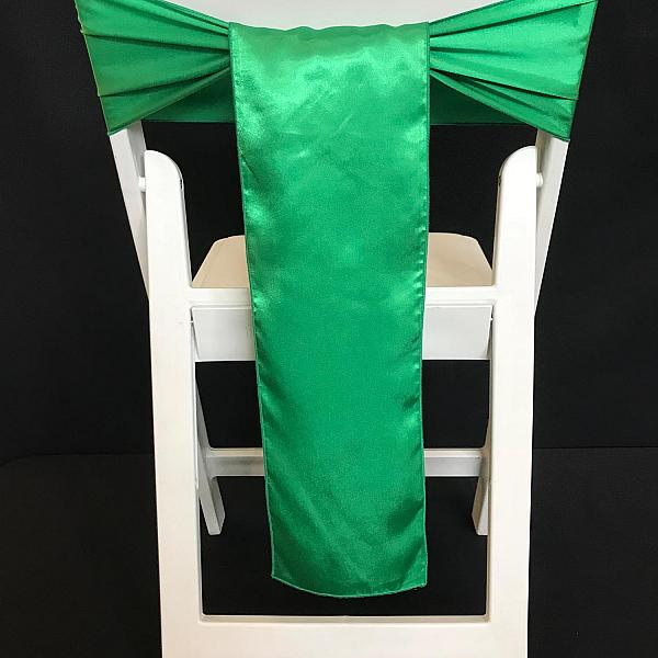 Chair Tie - Silk - Emerald Green