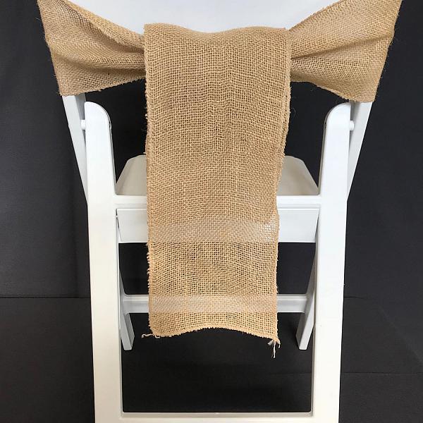 Chair Tie - Burlap - Natural