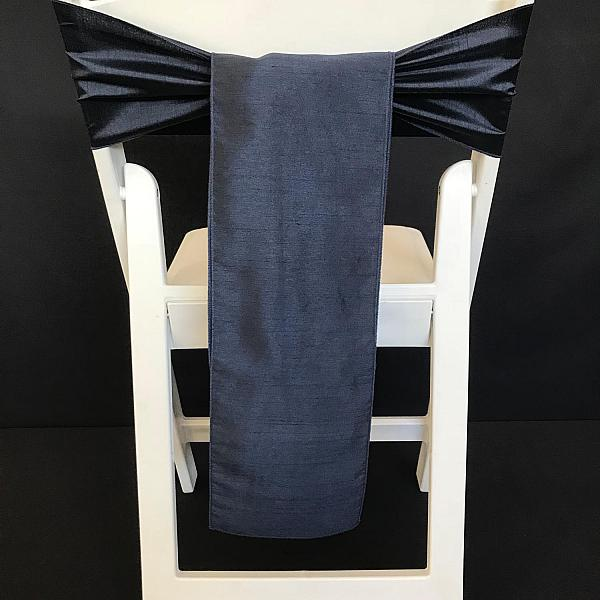 Chair Tie - Raw Silk - Navy