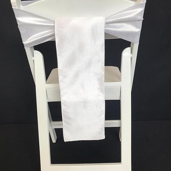 Chair Tie - Raw Silk - White