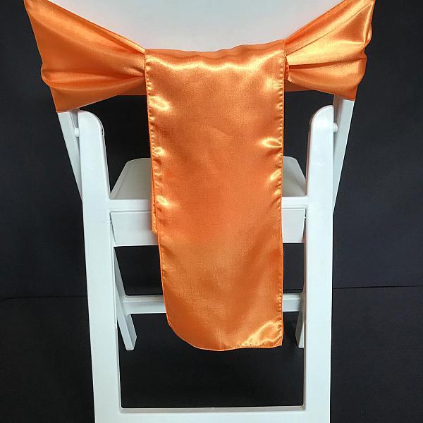 Chair Tie - Silk - Orange