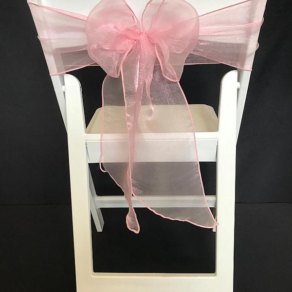 Chair Tie - Organza - Light Pink