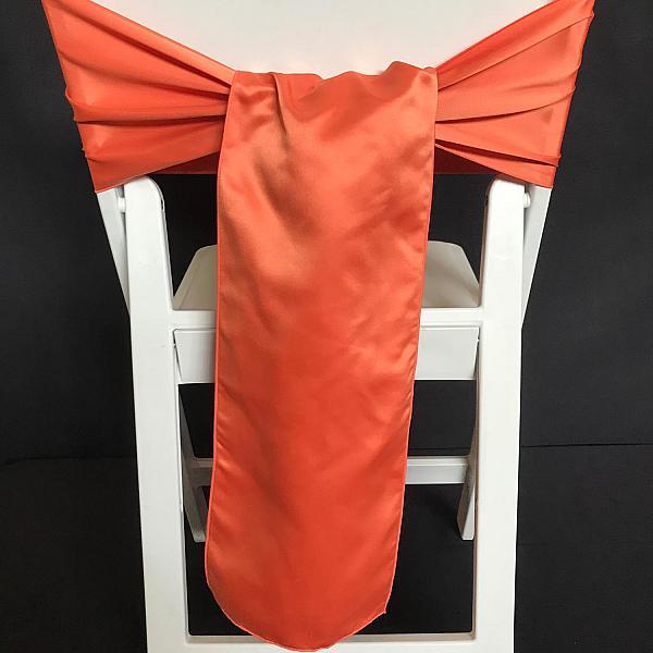 Chair Tie - Satin - Rust