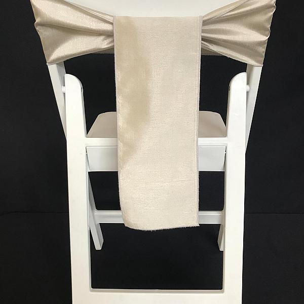 Chair Tie - Raw Silk - Silver