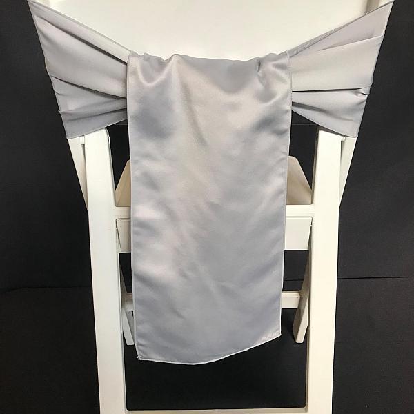 Chair Tie - Satin - Silver