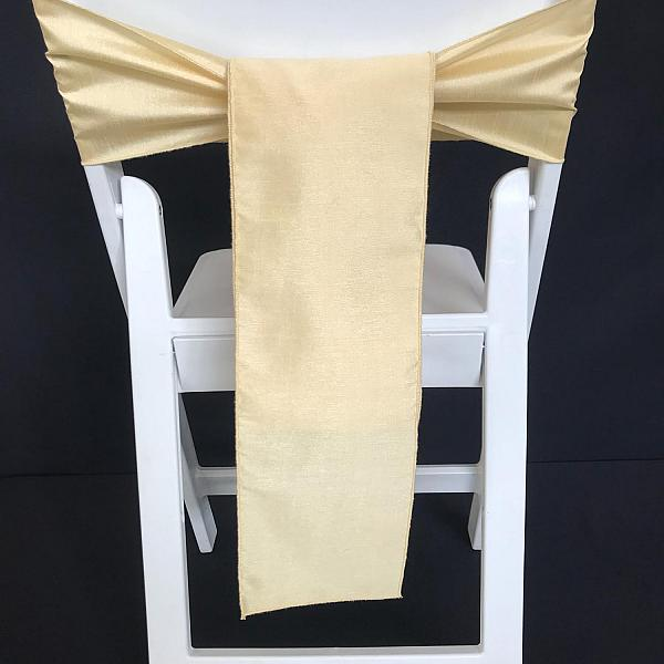 Chair Tie - Raw Silk - Soft Gold