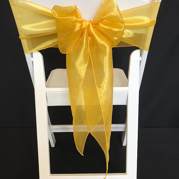Chair Tie - Organza - Yellow