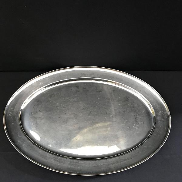 """Tray - Oval - Stainless - 20"""""""