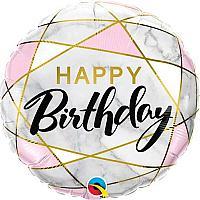 "Mylar - 18"" - Marble Birthday"