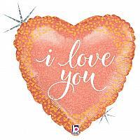 """Mylar - 18"""" - I Love You Heart"""