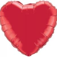 "Mylar - 18"" - Red Heart"