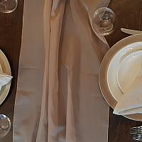 Table Runner, Sheer - Taupe