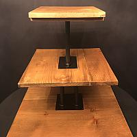 Stand - Wood w/ Wrought Iron - 3 Tier