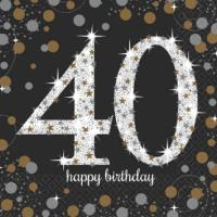 Sparkling Celebration - 40 Napkins