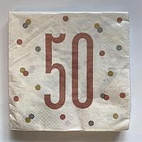 Rose Gold Napkins - 50