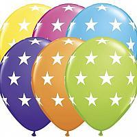 "Balloon - 11"" Latex - Big Stars - Tropical"