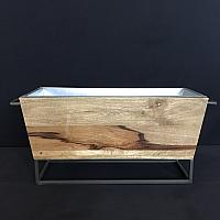 Party Tub - Wood w/ Iron Base