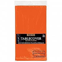 Plastic Tablecover - Rectangle - Orange