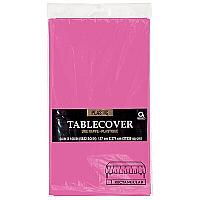 Plastic Tablecover - Rectangle - Bright Pink
