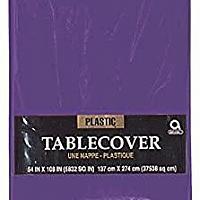 Plastic Tablecover - Rectangle - Purple