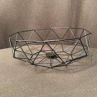 "Geometric Centrepiece/Metal Bowl - Black 4""h x 11. 7""w"