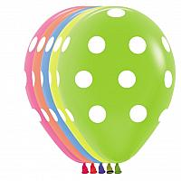 "Balloon - 11"" Latex - Big Polka Dots"