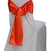 Chair Cover - Bistro - Satin - White