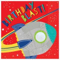 Blast Off Birthday - Napkins