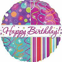 """Mylar - 18"""" - Birthday Streamers"""