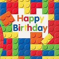 Building Blocks Birthday - Napkins