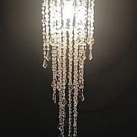 Unlit Chandelier - Crystal - 10""