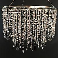 Unlit Chandelier - Crystal - 24""