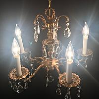 "Chandelier - Gold - 5 Lights 19""w x 18""h"