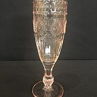 Pressed Glass Flute - Pink