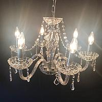 Chandelier - Chrome - 1 Tier 6 lights