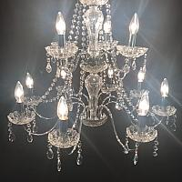 Chandelier - Chrome - 2 Tier