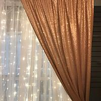 Backdrop Curtain Panel - Sequin - Blush 4' x 12'