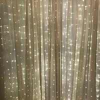 Backdrop Curtain Panel - Sheer - Champagne 10' x 12'