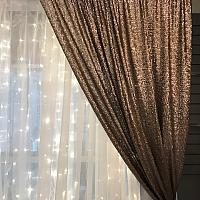 Backdrop Curtain Panel - Sequin - Ironwood 4' x 12'