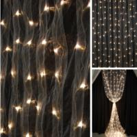 Backdrop Light - 8' Curtain - Warm White Organza