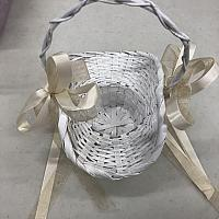 Flower Girl Basket w/ Ribbons