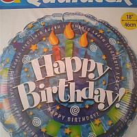 """Mylar - 18"""" - Happy Birthday Candles"""