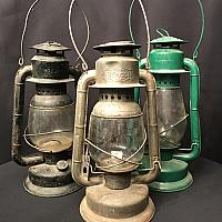 "Lantern - Rustic Oil - Assorted Colours 18"" h"