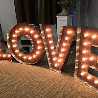 Marquee Sign - LOVE - Large 7'w x 3'h