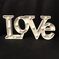 Marquee Sign - LOVE - White