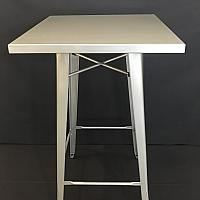 "Square Metal Cocktail Table 42"" Height"